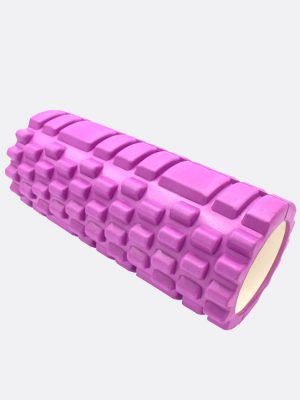 Dr.-Health-(TM)-13-Inch-Deep-Tissue-Grid-Yoga-Fitness-Massage-Foam-Roller-(Purple)