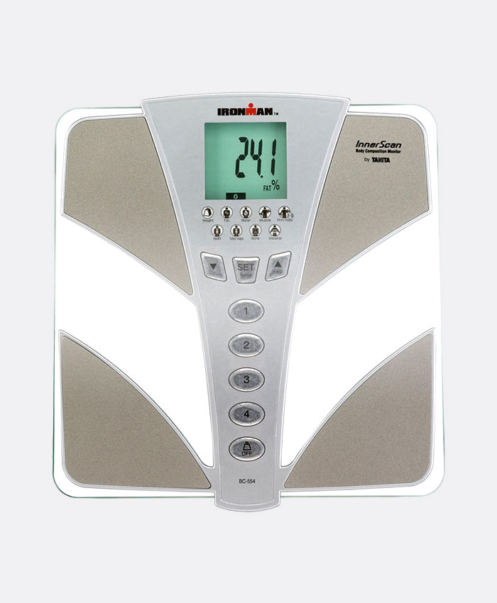 Tanita-Ironman-BC554-Glass-InnerScan-Body-Composition-Monitor-Elite-Series,-Silver